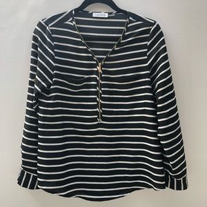 Calvin Klein stripped long sleeve top